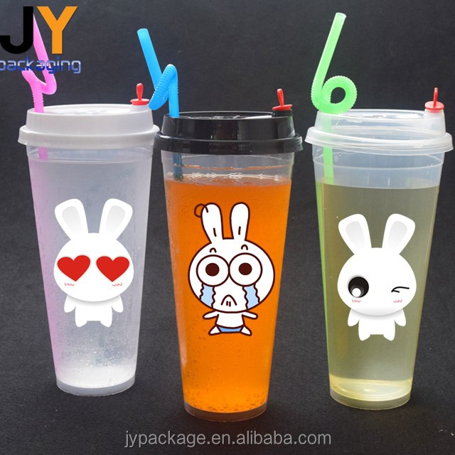 Customized plastic juice cup disposable plastic cup PP plastic cup for cold hot drink