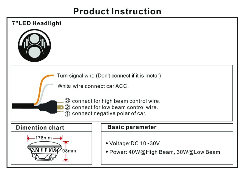 Led Headlight Wiring Diagram For Motorcycle from sc01.alicdn.com