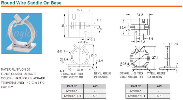 Rws-10 / Rws-16 Round Wire Saddle Locking Wire Saddle,Cable Clip ...