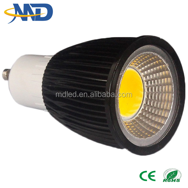 7w cob led spotlight bulb GU10 90-277v 3 years warranty gu10 made in china