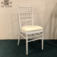 White Aluminum Hotel Furniture Banquet Dining Room Chair Wedding Chair