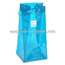 Nice quality vinyl wine carry bag pvc cooler tote bag