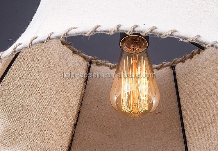 2015 di vendita caldo tessuto lampadario a sospensione industriale