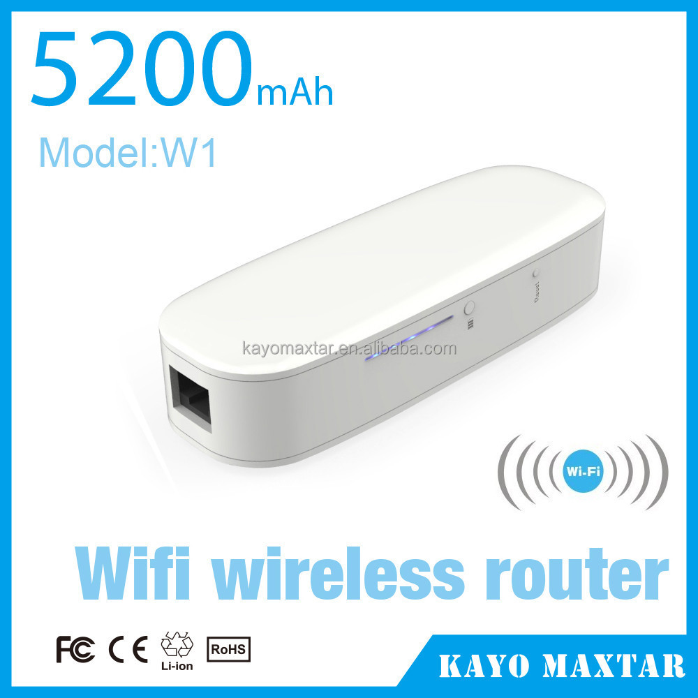 3G(CDMA/WCDMA/TD-SCDMA) WiFi router power bank,W1-5200mah