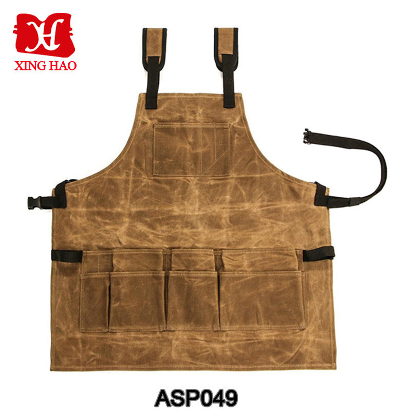 Waxed Canvas Tool Apron Water Resistance Canvas Work Apron