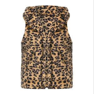 Wholesale Monogram fleece leopard Vest