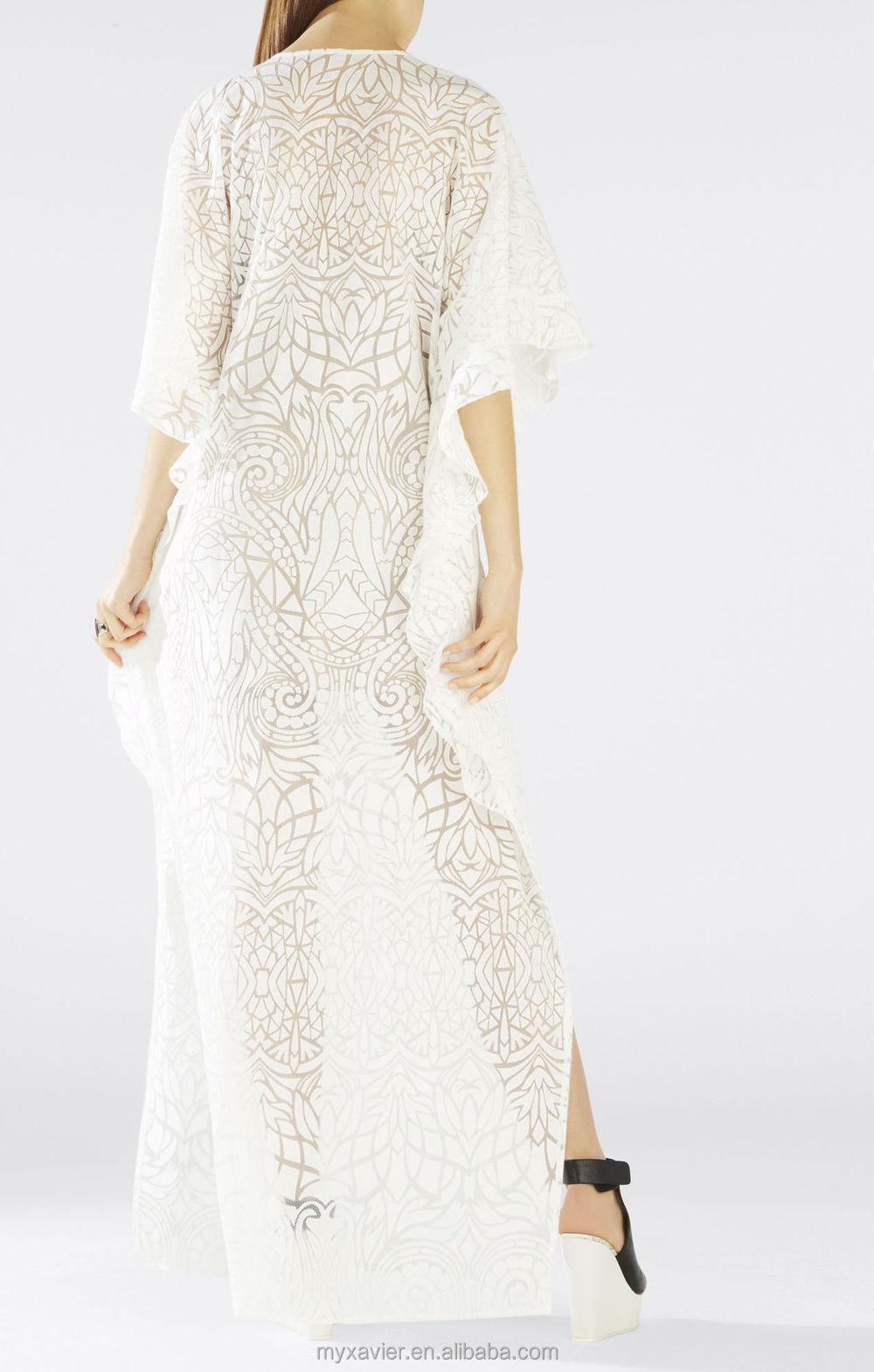 Lace kaftan dresses