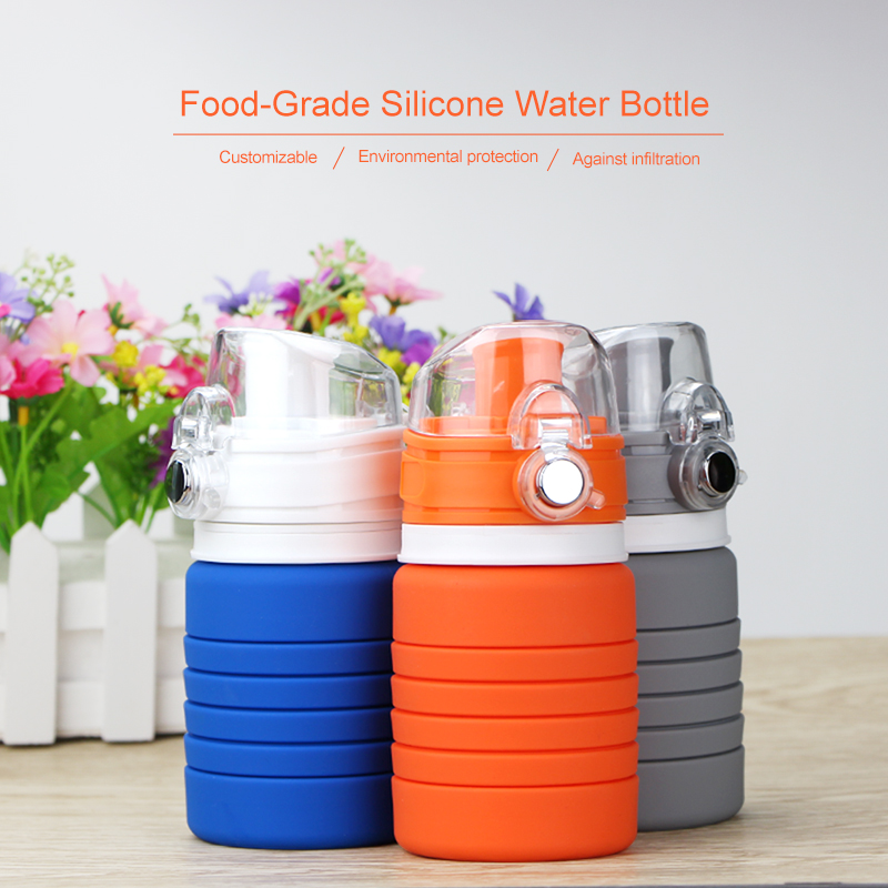 Hot selling wholesale water bottle Heat-resistant soft silicone sport water bottle