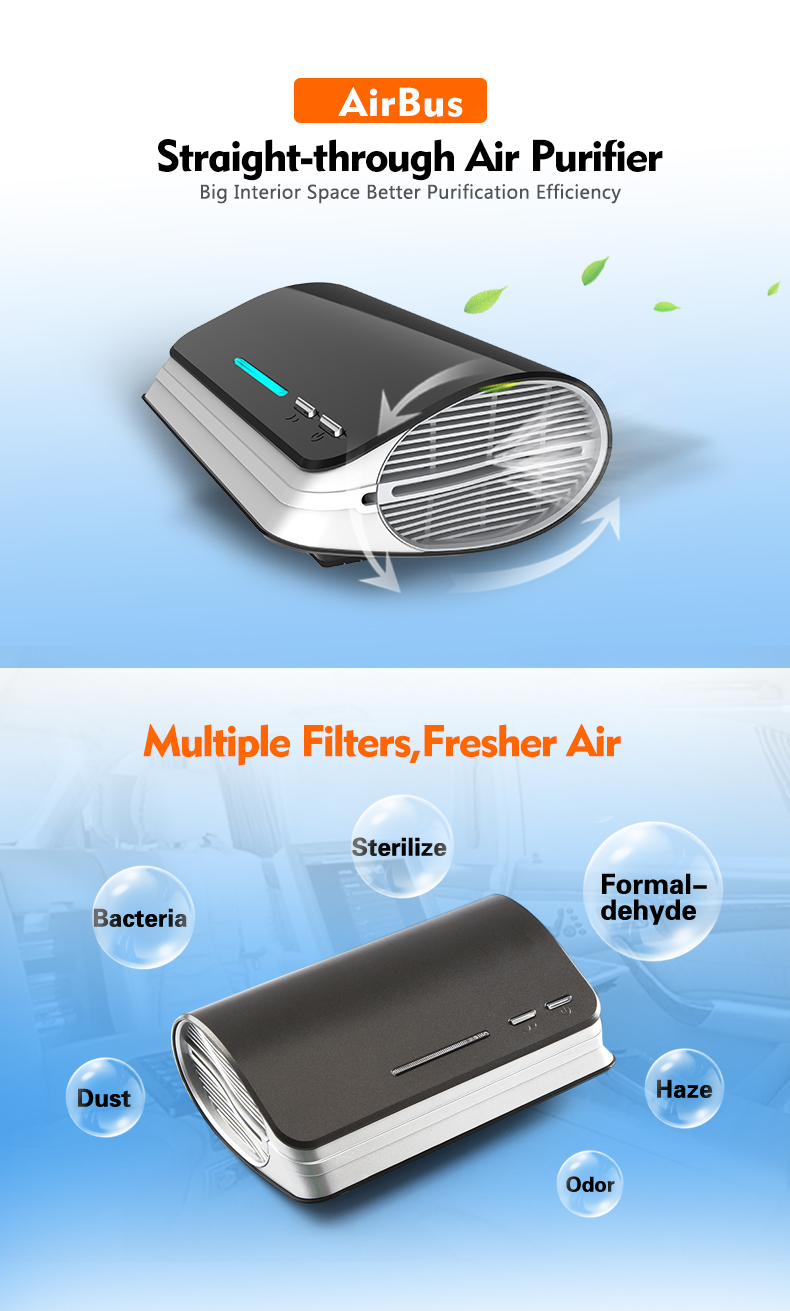 Cheap Hepa and UV filter car air purifier