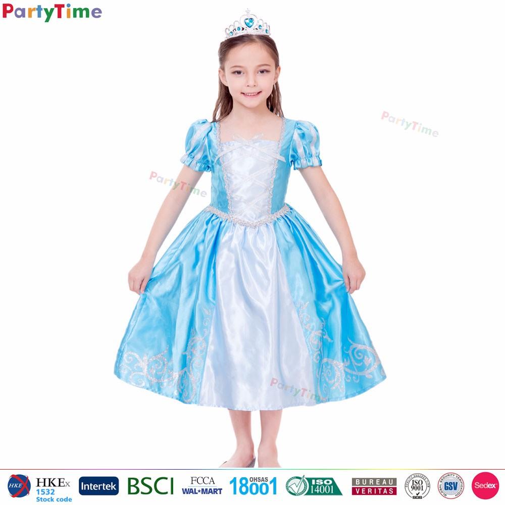 2017 Mädchen Partei Wear Blue Königliche Prinzessin Kleid Kinder ...