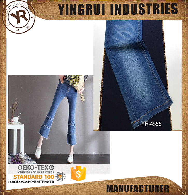 100%cotton denim fabric in hot sale