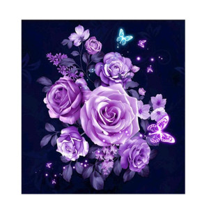 2019 hot sell popular home decor wall art handmade rose flower 5d DIY full drill Diamond rhinestone painting kits