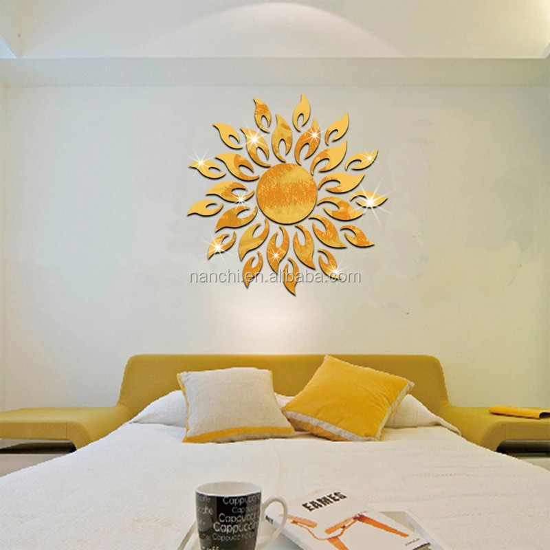 SunShine Modern Acrylic Plastic Mirror Wall decals Home Decal Decor Vinyl Stickers asd