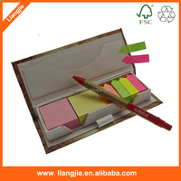 Printing sticky note sets, colorful sticky memo pads, memo pads with pen