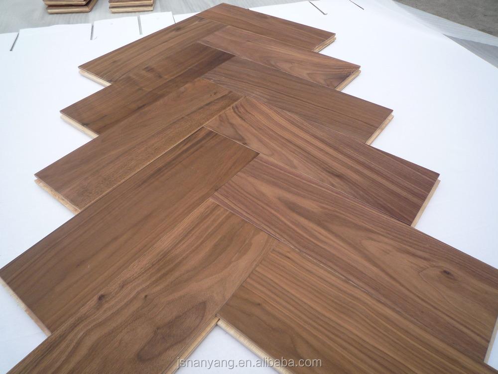 Amerikaans notenhout ontworpen visgraat parket houten vloeren