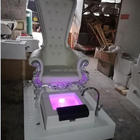2019 New Style 5 Years Warranty Hot Sale Top Luxuary White Spa Chair Pedicure Chair With Sink