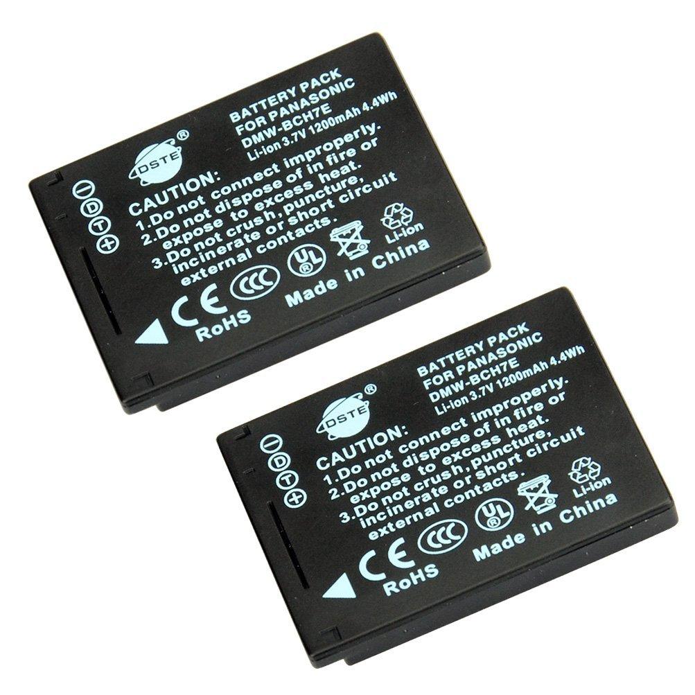 DSTE 2x DMW-BCH7E Replacement Li-ion Battery for Pansonic Lumix DMC-FP1 DMC-FP2 DMC-FP3 DMC-FT10 DMC-TS10 Camera as DMW-BCH7 DMW-BCH7PP