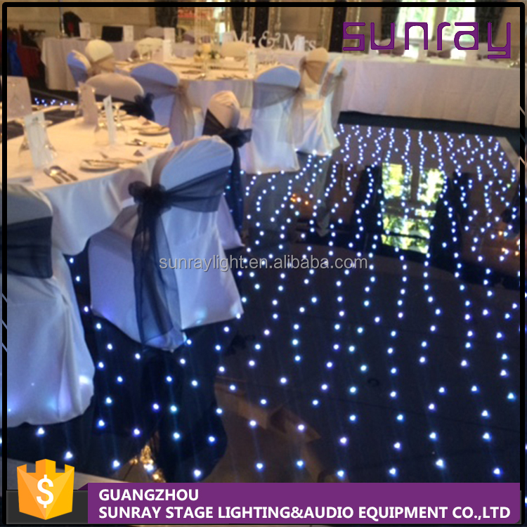 White Acrylic Dmx 512 Brightness Adjustable Color Changing Flash Dance Wedding Star Light Dance Floor