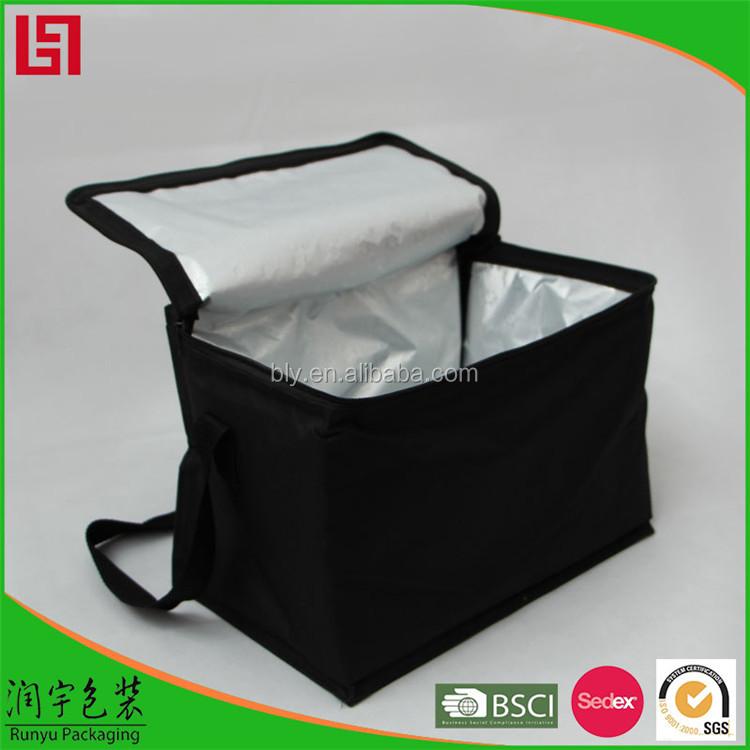 Grote aluminium folie voedsel lunch levering geïsoleerde kruidenier koeler thermische draagtas