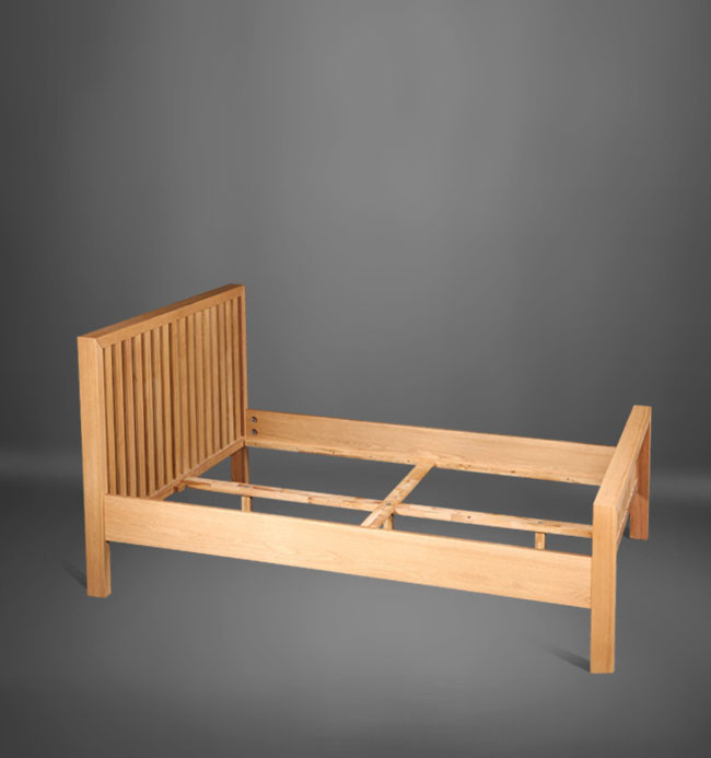 Modern Solid Wood Bedroom Furniture Recycled Pine Single