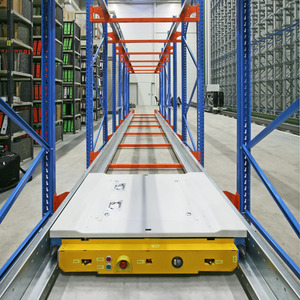 Automated warehouse racking system radio drive-in shuttle rack system with pallet runner