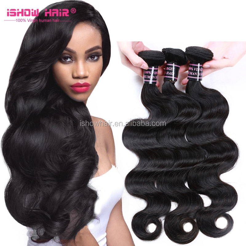 Ishow Hair Virgin Ideal Tangle Free Crochet Braids With Human Hair