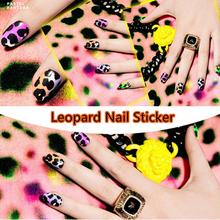2 Style Wild Leopard Nail Art Sticker Patch 14pcs/Set High Quailty Foils Decals French Manicure Polish Gel Beauty Makeup Tools
