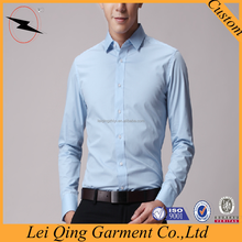 100% cotton slim fitting men custom made shirts tailors in china