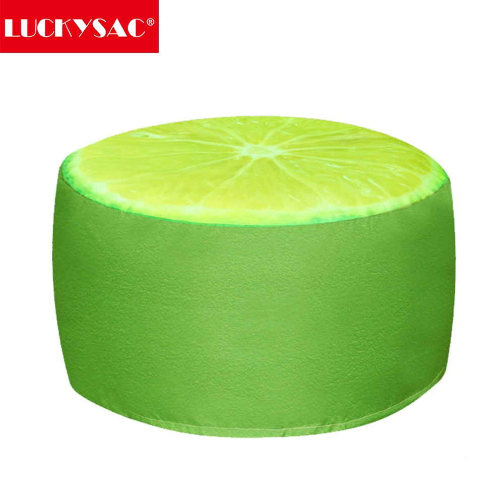 Living room furnitureone seat type and no inflatable fabric round ottoman inflatable pouffe
