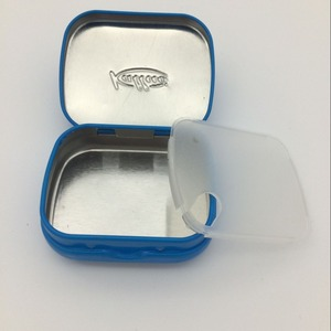 Sugar free rectangle hinges mint tin box