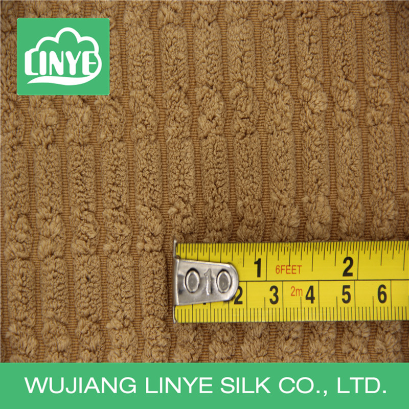 100% polyester spandex corduroy fabric for slippers