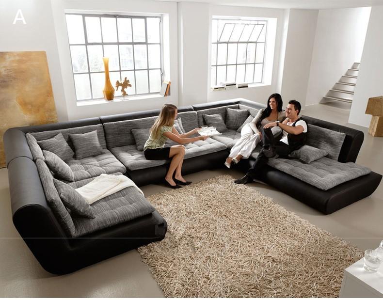 Sofá de couro moderno mobiliário italiano sala de estar ...
