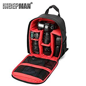 Professional DSLR Camera Backpack with Rain Cover for Canon, Nikon, Sony, Olympus, Samsung, Panasonic, Pentax models.