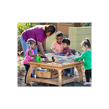 Best Selling Solid Wooden Outdoor Furniture Kids Water Play Table