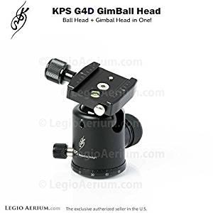 KPS G4D GimBall Head - Professional 40mm Ball Head with Gimbal