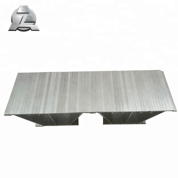 Extruded Aluminium Decking Plank For