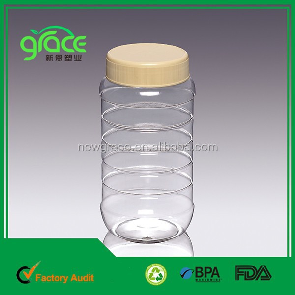 A9-2 1000g Clear Round Shaped Plastic <strong>Bottle</strong> for Honey Bee
