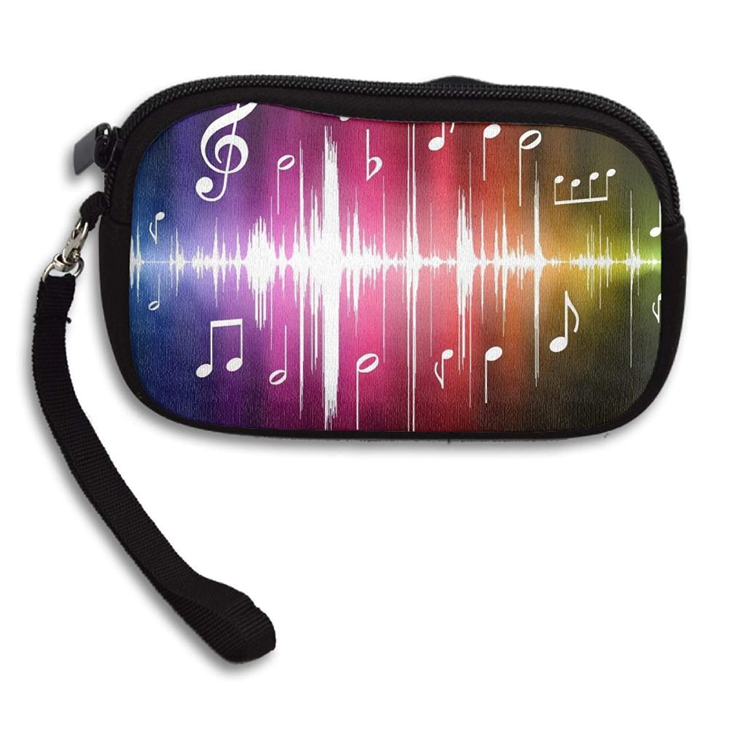 Colorful Music Deluxe Printing Small Purse Portable Receiving Bag