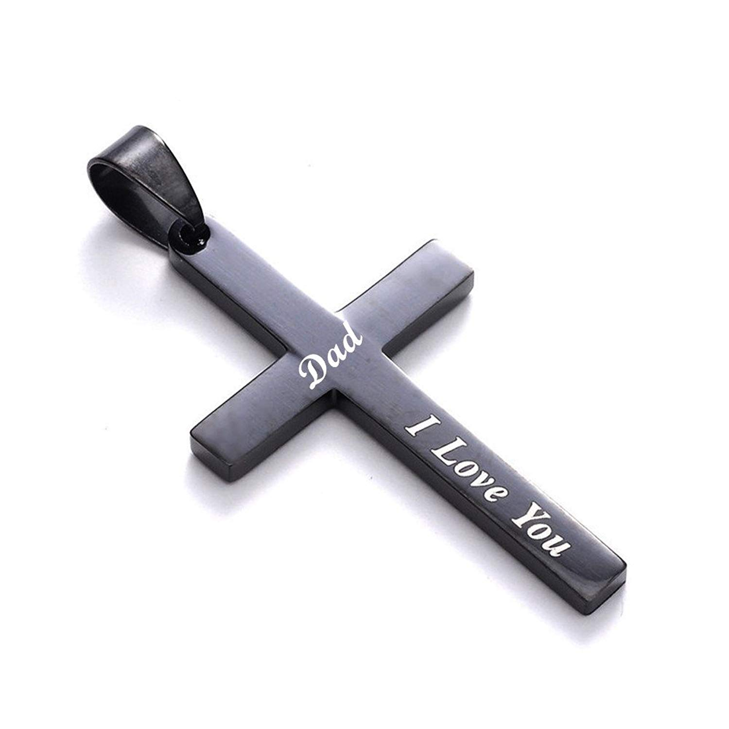 Cheap Vip Dad Find Deals On Line At Alibabacom Scooter Keychain Get Quotations Lf Dads Cross Necklace Stainless Steel Ip Black Plated Christian Holy Bless Pendant