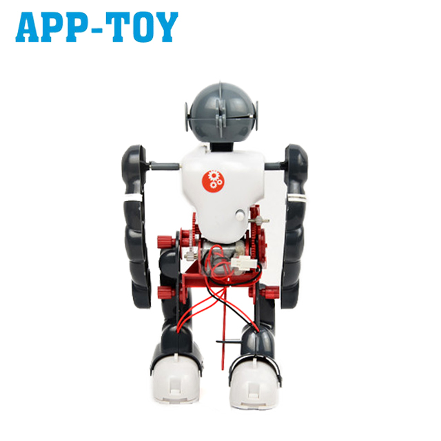 Self assembly electronics education diy robot kit toys with walk dance and somersault mode