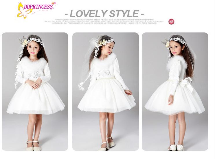888fa854785 Alibaba Mariage Filles Vêtements Enfants Robes De Mariée Princesse  Adolescents Filles Mariage Fleur Robe Robes De