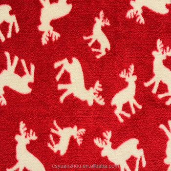 merry christmas giraffe print polar fleece fabric