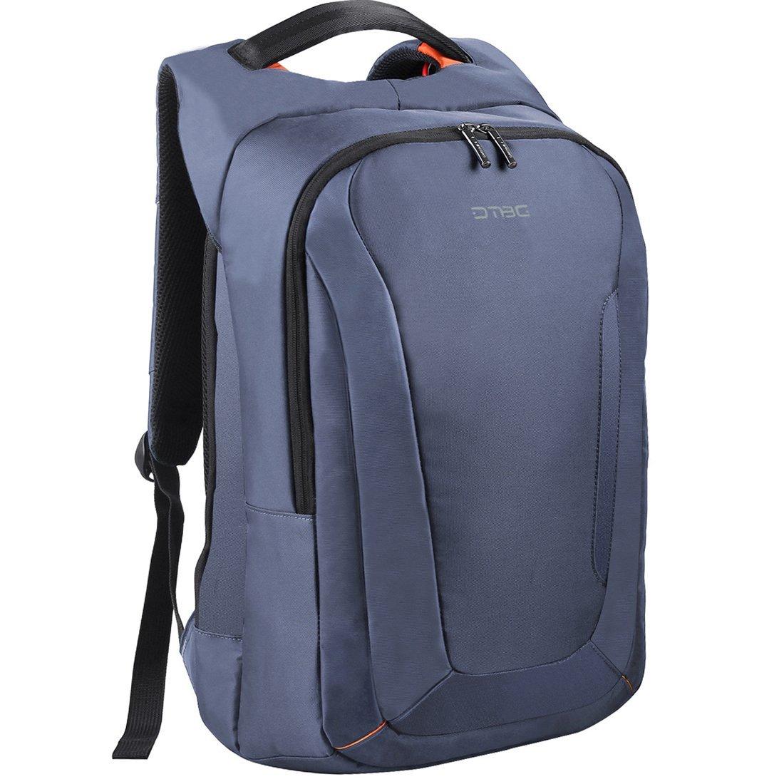 DTBG 15.6 Inch Laptop Backpack with USB Charging Port, Nylon Rucksack Travel Knapsack Casual Daypack Laptop Bag For HP / Lenovo / Dell / Asus / Student / Women / Men (Dark Blue)