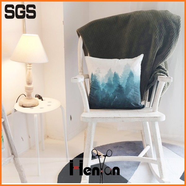 wholesale custom printed velvet elderly seat cushion