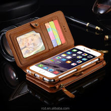 Wholesale Online High quality smart phone wallet leather view case for IPhone 6 6 Plus For IPhone 7 7 Plus