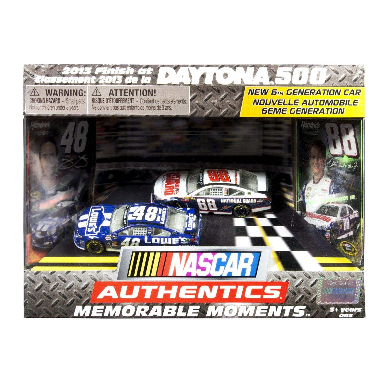 "NASCAR Authentics - Memorable Moments - Daytona 500"" Jimmie Johnson #48 Dale Earnhardt Jr. #88"