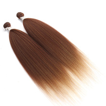 noble gold synthetic blonde silky straight brazilian best selling natural yaki hair weave extension