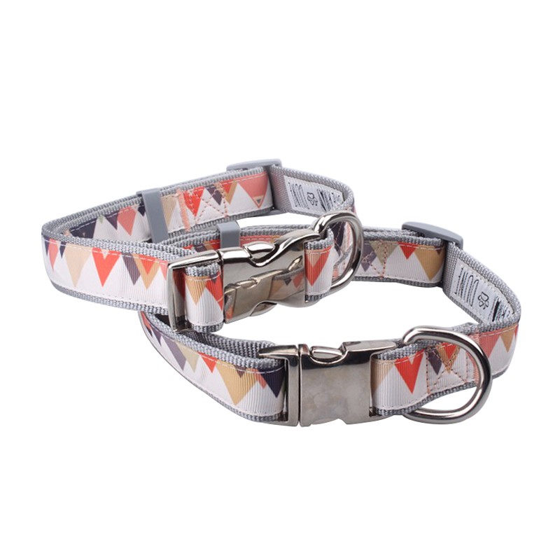Top sell 2019 logo dog collar fashion cat collar rose gold buckle custom