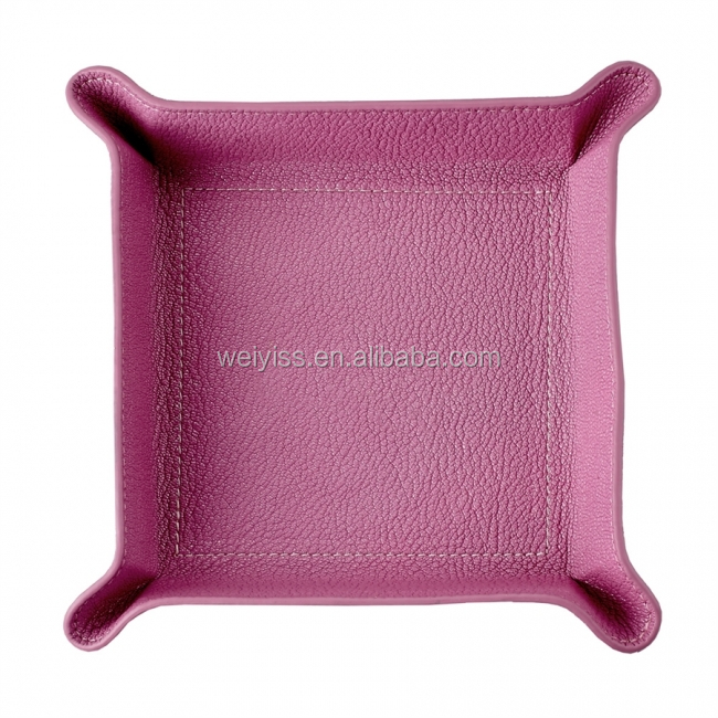 Customize leather Storage tray middle size or OEM design