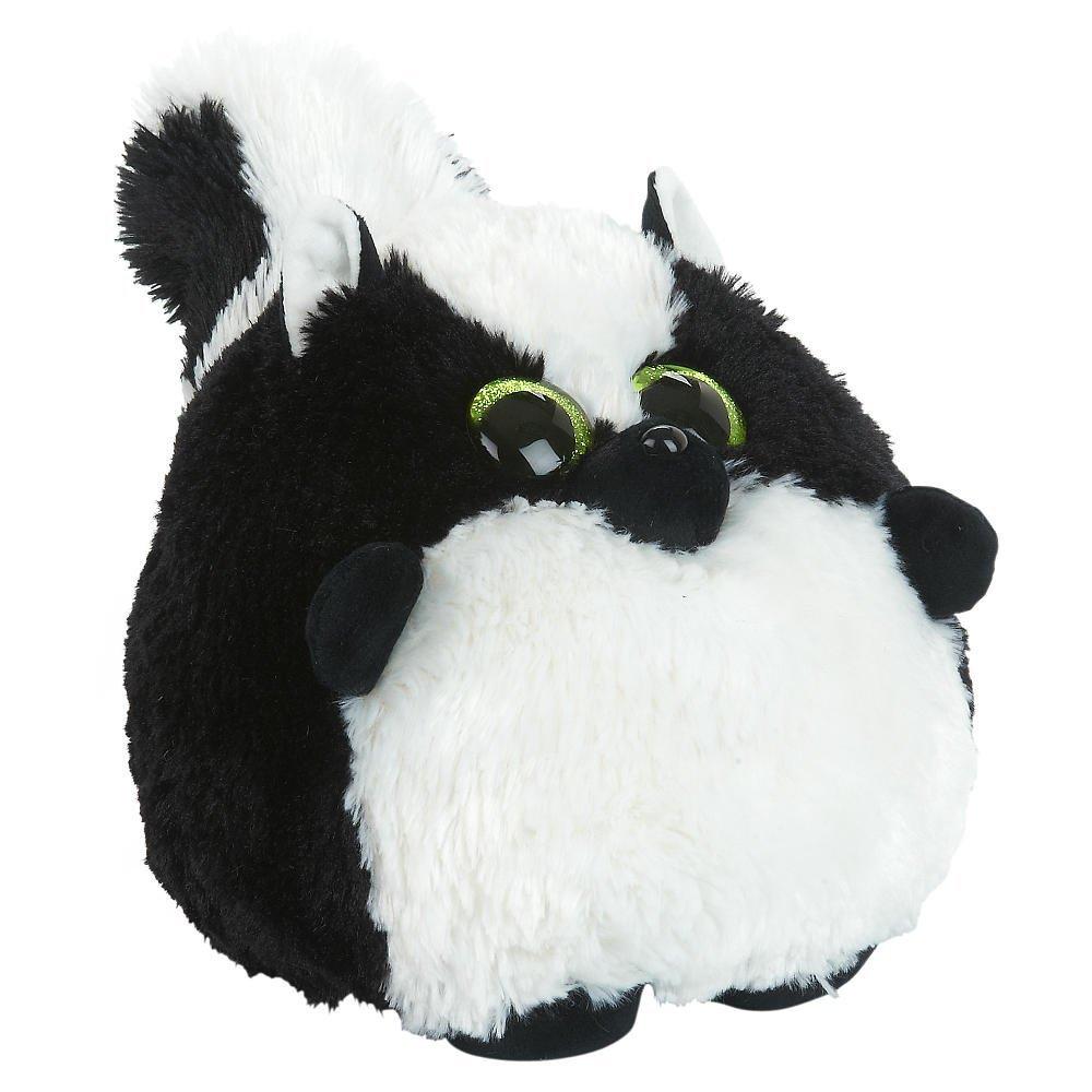 Toys R Us Plush 7.5 inch Round Skunk - Black/White